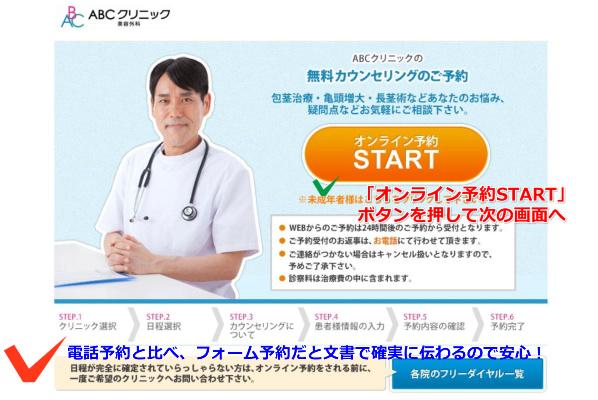 ABCクリニック予約手順2