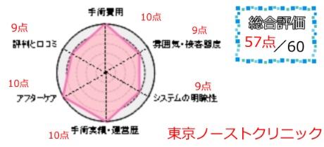 東京ノーストクリニック総合評価